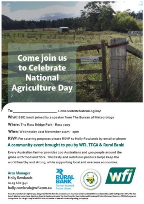 Wfi National Ag Day A4 Flyer Tasmania