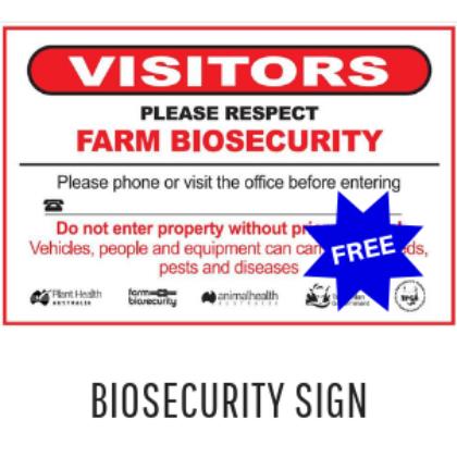 Biosecurity Gate Sign