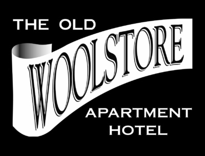 The Old Woolstore Apartment Hotel Logo High Res Black And White